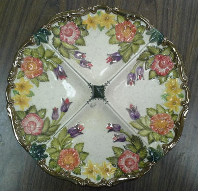4 Sectioned Flower Plate